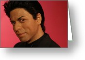 Superstar Photo Greeting Cards - Shahrukh Khan - Shah Rukh Khan - Baadshah of Bollywood - King Khan - The King of Bollywood  Greeting Card by Lee Dos Santos