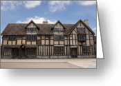 Elizabethan Greeting Cards - Shakepeares house Greeting Card by Jane Rix
