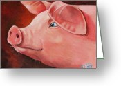 Boar Greeting Cards - Shakespear Greeting Card by Laura Carey