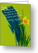 Brushstroke Greeting Cards - Shakespeare Daffodil Greeting Card by Tamara Stoneburner