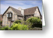 Elizabethan Greeting Cards - Shakespeares birthplace. Greeting Card by Jane Rix