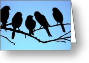 Talking Birds Greeting Cards - Shall we go then Greeting Card by Terry Beecher