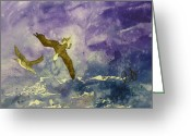 Estephy Sabin Figueroa Painting Greeting Cards - Shallow Dive  Greeting Card by Estephy Sabin Figueroa