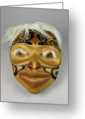 Shamanic Photo Greeting Cards - Shamans Mask Greeting Card by Gary Dean Mercer Clark