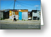 Rust Greeting Cards - Shanty Greeting Card by Andrew Paranavitana