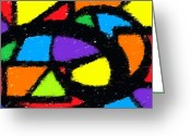 Colorful Greeting Cards - Shapes 16 Greeting Card by Chris Butler