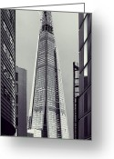 Construction Greeting Cards - Shard of Glass Greeting Card by Jasna Buncic