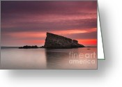 Twilight Greeting Cards - Shark Rock Greeting Card by Evgeni Dinev