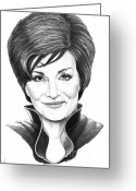 Got Greeting Cards - Sharon Osbourne Greeting Card by Murphy Elliott