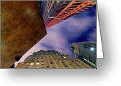 Abstract Building Greeting Cards - Sharp Greeting Card by Mike Lindwasser Photography