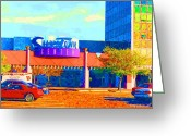 City Scapes Framed Prints Greeting Cards - Sharpstown Mall painting Greeting Card by Fred Jinkins