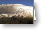 Mountain Peaks Greeting Cards - Shasta Storm Greeting Card by Bill Gallagher