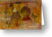 Survivor Mixed Media Greeting Cards - She Believed She Could Greeting Card by Angela L Walker