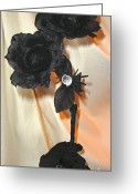 Spider Jewelry Greeting Cards - She Comes in Light Greeting Card by Jozy Me