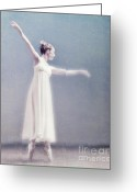 Ballet Dancer Greeting Cards - She Dances Greeting Card by Linde Townsend