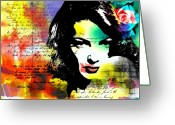 Suspicion Greeting Cards - She knew Greeting Card by Ramneek Narang