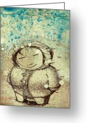 Friend Greeting Cards - She Liked The Cold Greeting Card by Konrad Geel