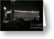 Shea Stadium Photo Greeting Cards - Shea Stadium Greeting Card by Chuck Kuhn