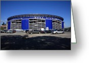 Citi Field Greeting Cards - Shea Stadium - New York Mets Greeting Card by Frank Romeo