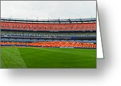 Shea Stadium Photo Greeting Cards - Shea Stadium Pano Greeting Card by Dennis Clark