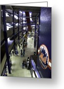 Shea Stadium Photo Greeting Cards - Shea Stadium Walkways Greeting Card by Paul Plaine
