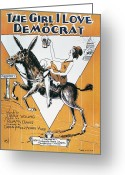 Democrat Party Greeting Cards - SHEET MUSIC COVER, c1932 Greeting Card by Granger