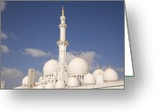 Bauwerk Greeting Cards - Sheikh Zayed Mosque in Abu Dhabi Greeting Card by Peter Schickert