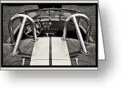 Carroll Shelby Photo Greeting Cards - Shelby Cobra Greeting Card by Scott Wood