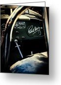 Carroll Shelby Photo Greeting Cards - Shelby Cockpit Greeting Card by Paul Bartell