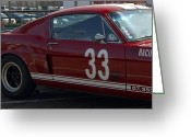 Carroll Shelby Photo Greeting Cards - Shelby Race Car Greeting Card by Peggy Zachariou