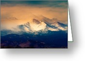 Landscape Posters Greeting Cards - Shell Be Coming Around the Mountain Greeting Card by James Bo Insogna