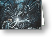 Lord Of The Rings Greeting Cards - Shelob Greeting Card by Tom Carlton