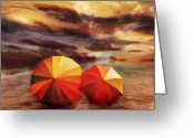 Umbrella Digital Art Greeting Cards - Shelter Greeting Card by Photodream Art