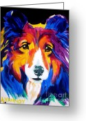 Dawgart Greeting Cards - Sheltie - Missy Greeting Card by Alicia VanNoy Call