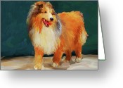 Sheltie Greeting Cards - Sheltie 2 Greeting Card by Jai Johnson