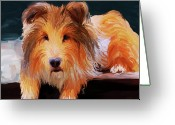 Sheltie Greeting Cards - Sheltie Greeting Card by Jai Johnson