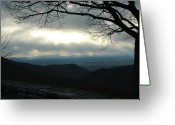 Gloaming Greeting Cards - Shenandoah Gloaming Greeting Card by Jane Jansen van Rensburg