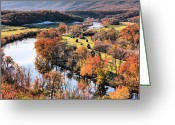 Colours Greeting Cards - Shenandoah  Greeting Card by JC Findley