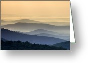 Shenandoah Greeting Cards - Shenandoah National Park Mountain Scene Greeting Card by Brendan Reals