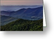 Dusk Greeting Cards - Shenandoah Valley at Sunset Greeting Card by Rick Berk