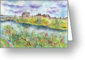 Riviere Greeting Cards - Sherbrooke Quebec Greeting Card by Ion vincent DAnu