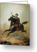 1871 Greeting Cards - Sheridans Ride Greeting Card by Thomas Buchanan Read