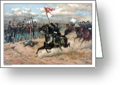 Cavalry Greeting Cards - Sheridans Ride Greeting Card by War Is Hell Store