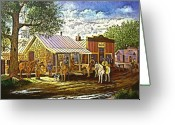 Lawmen Greeting Cards - Sheriffs Call for a Posse Greeting Card by Donn Kay