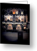 Character Greeting Cards - Sherlock Holmes pub Greeting Card by Jasna Buncic