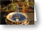 String Instrument Greeting Cards - Sherridan Banjo Greeting Card by Dyker_the_horse_1976