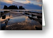 Shi Greeting Cards - Shi Shi Beach at Sunset Greeting Card by Alvin Kroon
