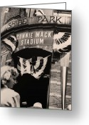 Philadelphia Greeting Cards - Shibe Park - Connie Mack Stadium Greeting Card by Bill Cannon