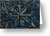 Engravings Greeting Cards - Shield of Time Greeting Card by Wenata Babkowski
