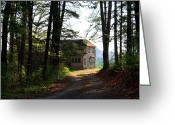 Driveways Greeting Cards - Shields Farm Greeting Card by Kathryn Meyer